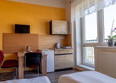 Ubytovna Topírna dvoulůžkový pokoj a vybavení